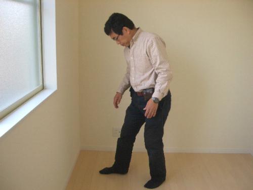 歩行感触の調査方法