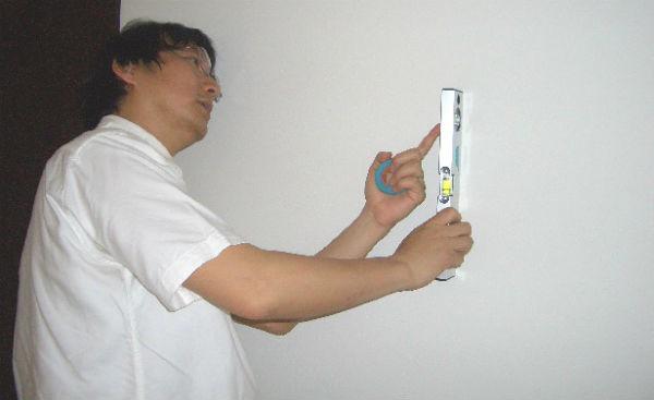 壁の傾き測定